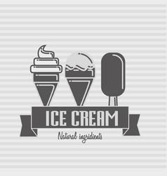 ice cream logo template vector image