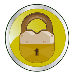 lock on button vector image vector image