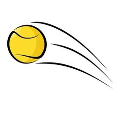 Tennis ball sketch vector image vector image