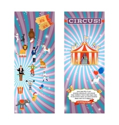 Vintage circus flyer template vector image