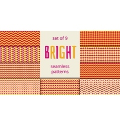 Bright orange and pink waves scales seamless vector image
