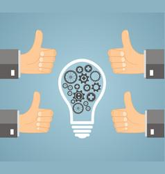 concept idea - management approves the idea vector image vector image