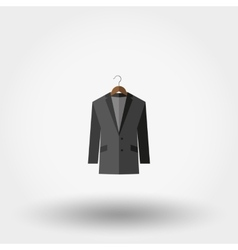 Jacket on a hanger Icon vector image