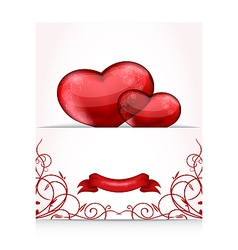 Valentines day letter with hearts vector image