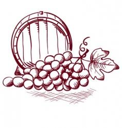 wine barrel vector image vector image