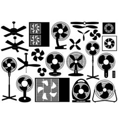 Different Ventilator Set vector image vector image