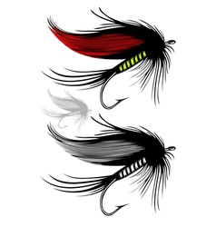 Fishing fly on transparent background vector image