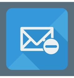 Mail icon envelope with minus sign Flat design vector image