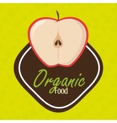 organic food fruit icon vector image