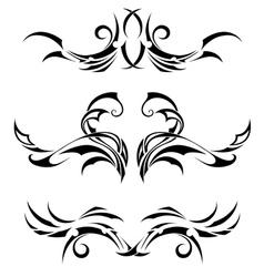 Set Tribal Tattoos vector image