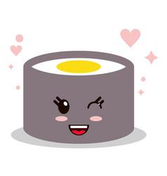 yellow color kawaii cartoon happy cute icon vector image