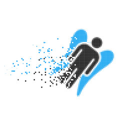 Angel dissipated pixel icon vector