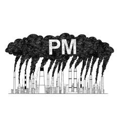 artistic drawing of smoking smokestacks concept vector image