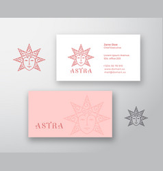 astra abstract logo and business card vector image