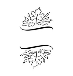 Autumn leaves border frame vector