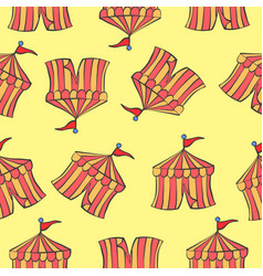 Background tent circus pattern style vector