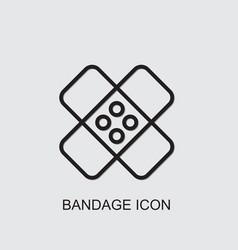 Bandage icon vector