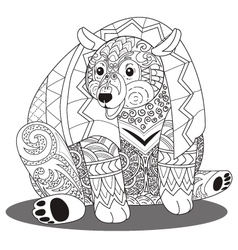 Bear coloring vector