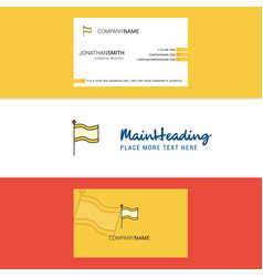 beautiful flag logo and business card vertical vector image