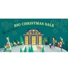 Big Christmas Sale Glowing Shop vector image