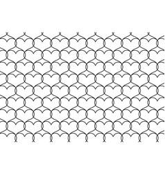 black heart pattern vector image