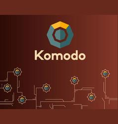 Blockchain komodo symbol on dark background vector