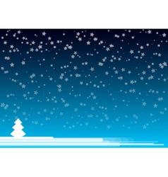 blue night vector image