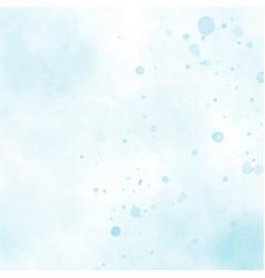 blue watercolor splash square background eps10 vector image