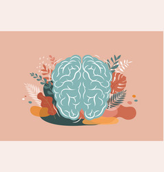 Brain mind and mindfulness concept vector