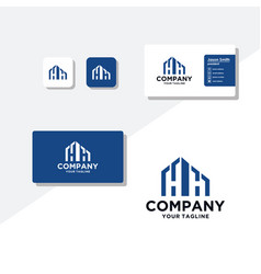 Building concept logo design business card vector