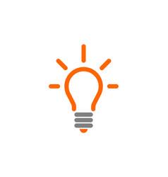 bulb abstract idea logo icon vector image