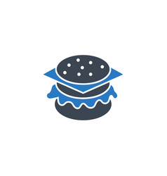 burger related glyph icon vector image