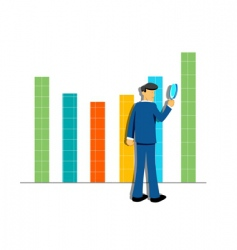 businessman and graph vector image