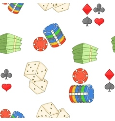 Casino pattern cartoon style vector