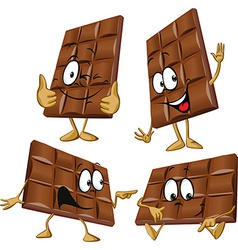 Chocolate cartoon with hand gesturing vector