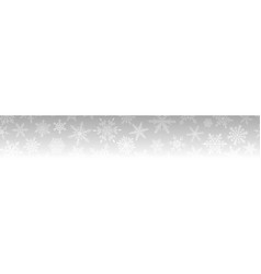 christmas banner snowflakes vector image