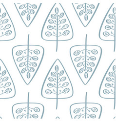 christmas tree seamless pattern in vector image