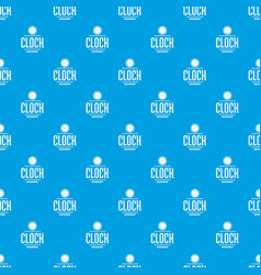 clock pattern seamless blue vector image
