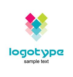 Coloring logo design vector