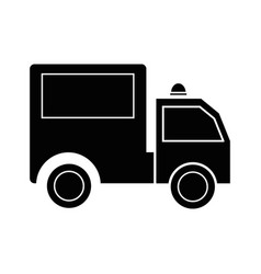 Contour package delivery services in truck vector