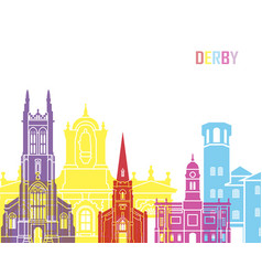 Derby skyline pop vector