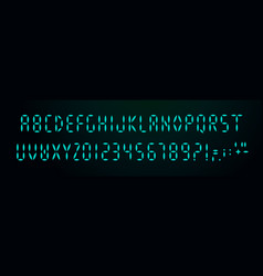 digital font on black background glowing vector image