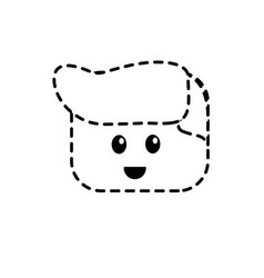 Dotted shape man character head to video game vector