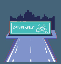 Drive safely design vector