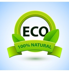 Eco sign with promotion text vector