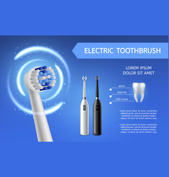 Electric toothbrush fresh teeth cleaning vector