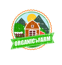 farm house concept logo template with farm vector image
