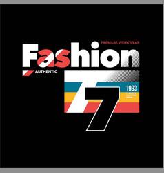 Fashion 77 premium workwear simple vintage vector