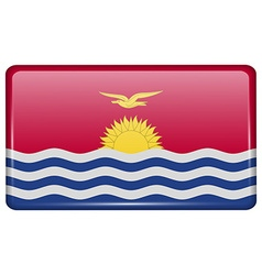 Flags Kiribati in the form of a magnet on vector