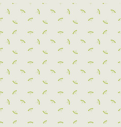floral seamless pattern with berries simple vector image